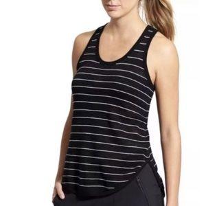Athleta Black & White Stripe Sweater Tank